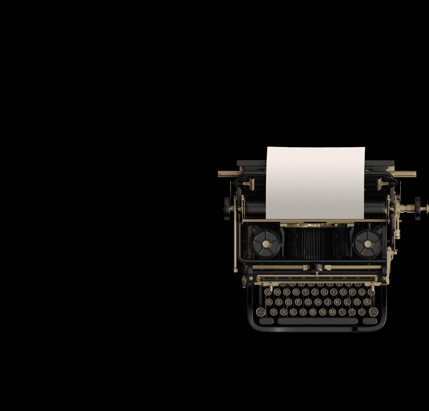 máquina de escribir hambre